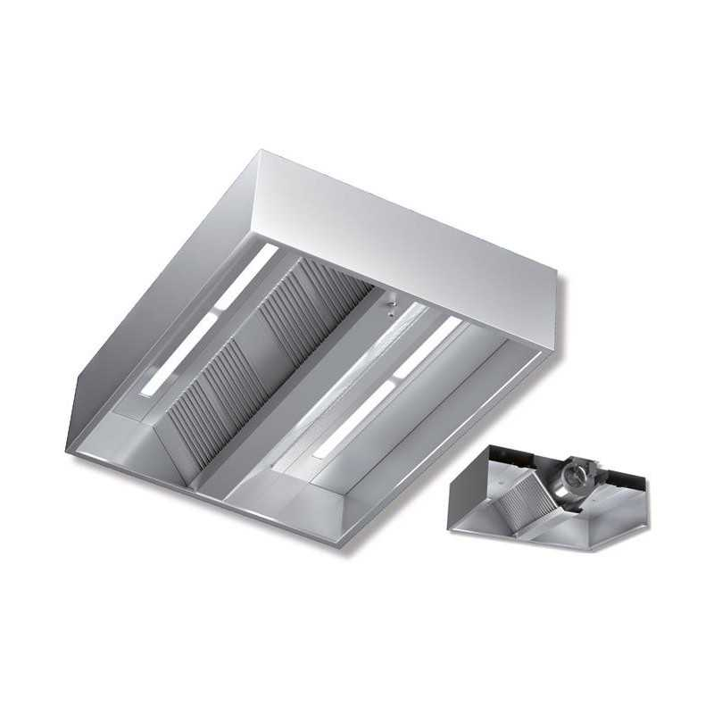 Cappa kubica centrale filtri antigrasso acciaio inox for Cappa acciaio