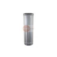 ELEMENTO DRITTO LUNGHEZZA 0,5 MT - IN ACCIAIO INOX - Ø 150 mm - ALTEZZA UTILE 450 mm