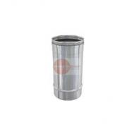 ELEMENTO DRITTO LUNGHEZZA 200 MM - IN ACCIAIO INOX - Ø 150 mm - ALTEZZA UTILE 200 mm