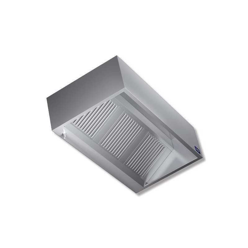 Cappa a parete kubica filtri antigrasso acciaio inox for Cappa acciaio
