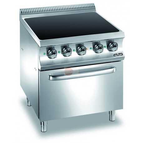Cucina con piano in vetroceramica su forno elettrico - Cucina vetroceramica ...