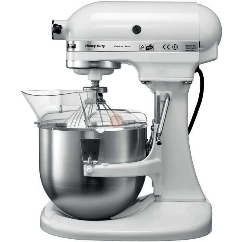 robot da cucina kitchenaid heavy duty da 4 8 l colore bianco. Black Bedroom Furniture Sets. Home Design Ideas