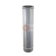 ELEMENTO DRITTO LUNGHEZZA 1 MT - IN ACCIAIO INOX - Ø 200 mm - ALTEZZA UTILE 950 mm