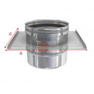 SUPPORTO A SOLAIO IN ACCIAIO INOX - DIAMETRO 200 MM