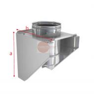 SUPPORTO A MURO IN ACCIAIO INOX - DIAMETRO 200 MM