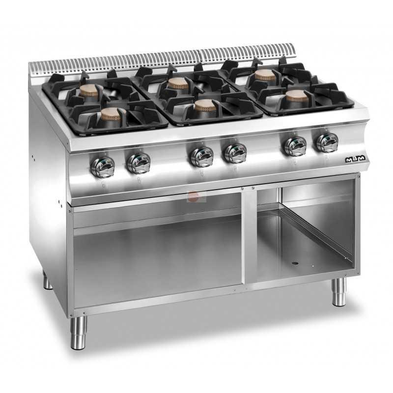 Cucina a gas 6 fuochi potenza 42 kw su armadio a - Cucina 6 fuochi ...