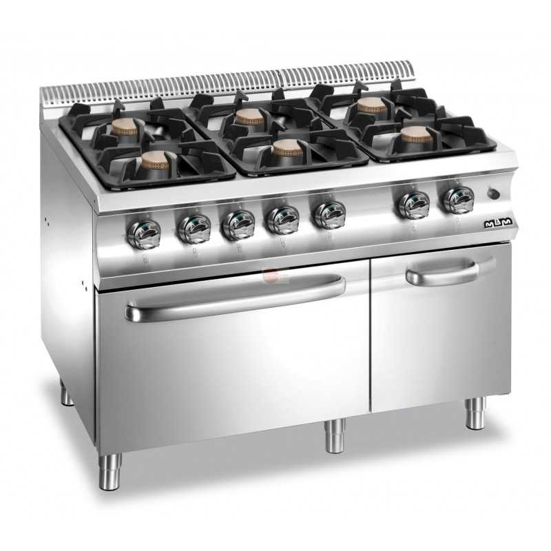 Cucina A Gas 6 Fuochi Potenza Fuochi 42 Kw Potenza