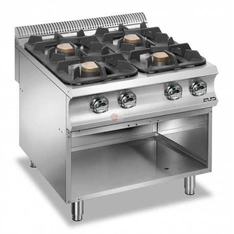 Cucina a gas 4 fuochi su armadio a giorno struttura interamente - Cucina a gas da 90 ...