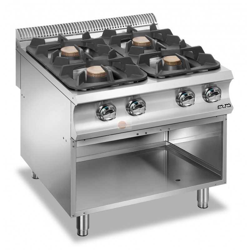 Cucina A Gas 4 Fuochi Potenza 36 Kw Su Armadio A