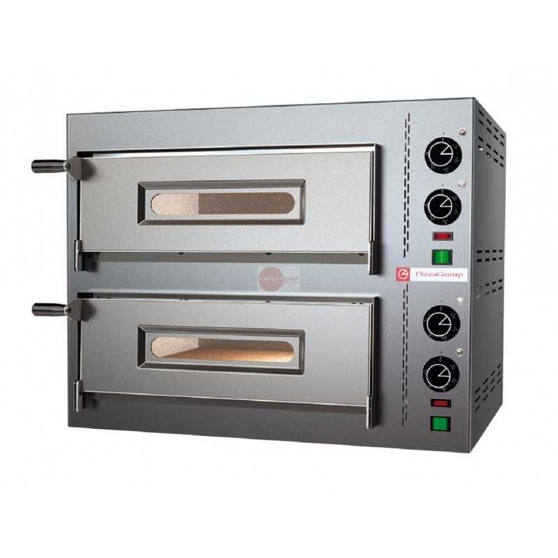 Forno pizza elettrico 2 camere di cottura capacita 39 2 for Cottura pizza forno elettrico