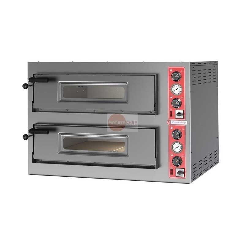 Forno elettrico pizzeria 2 camere di cottura capacita for Cottura pizza forno elettrico