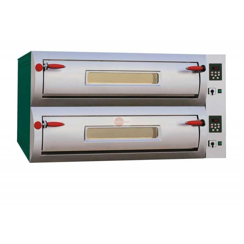 Forno pizza elettrico digitale 2 camere di cottura for Cottura pizza forno elettrico