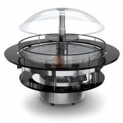 ISOLA BUFFET REFRIGERATA - IDEALE PER GASTRONOMIA E PASTICCERIA A 360° - CAPPA MOTORIZZATA - ILLUMINAZIONE A LED - PORTA USB - REFRIGERAZIONE VENTILATA - TEMPERATURA +4°/+10° - DIMENSIONI ø 1525 x h. 1600 mm