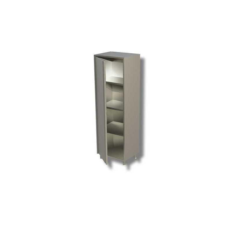 Armadio con 1 porta battente 3 ripiani interamente in for Armadio con ripiani